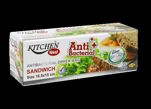 Kitchen Neat ถุงซิปแอนตี้แบคทีเรีย (Sandwich Size)