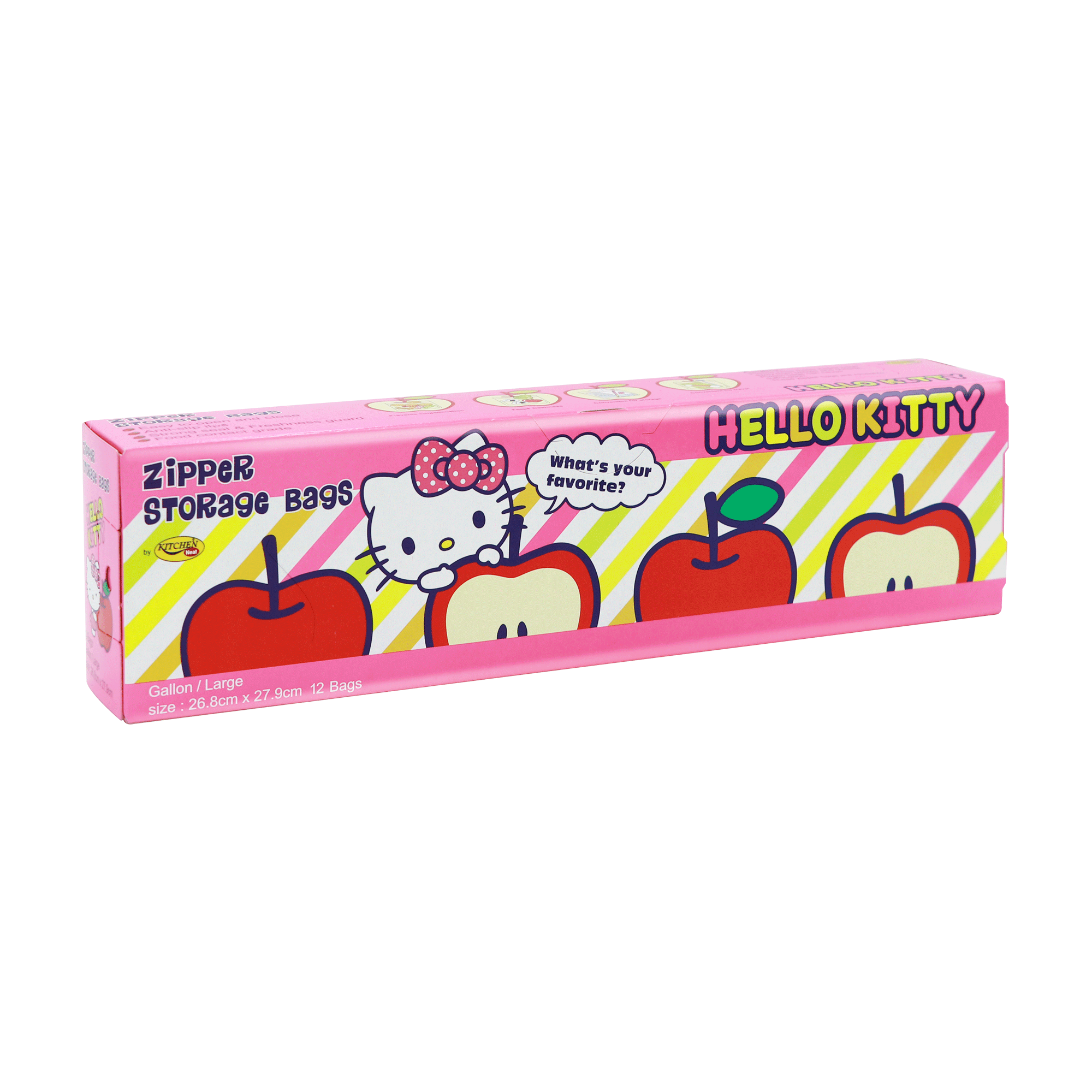 Kitchen Neat Zipper Bags Hello Kitty (Size L)