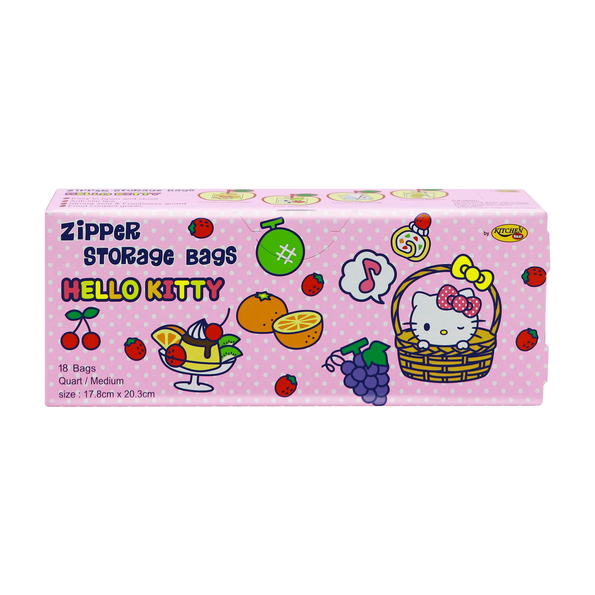 Kitchen Neat Zipper Bag Hello Kitty