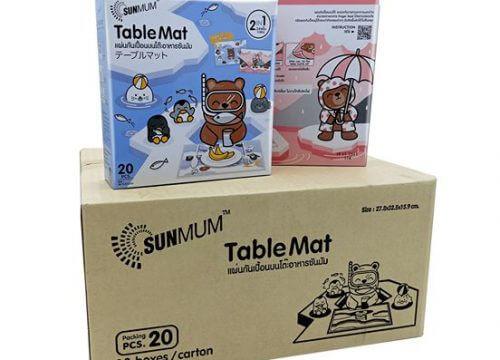 SUNMUM แผ่นกันเปื้อนบนโต๊ะ