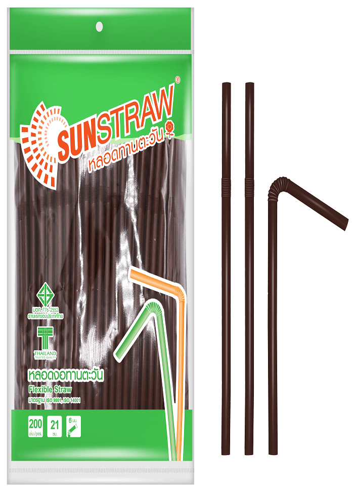 SUNSTRAW Brown Flexible Straw