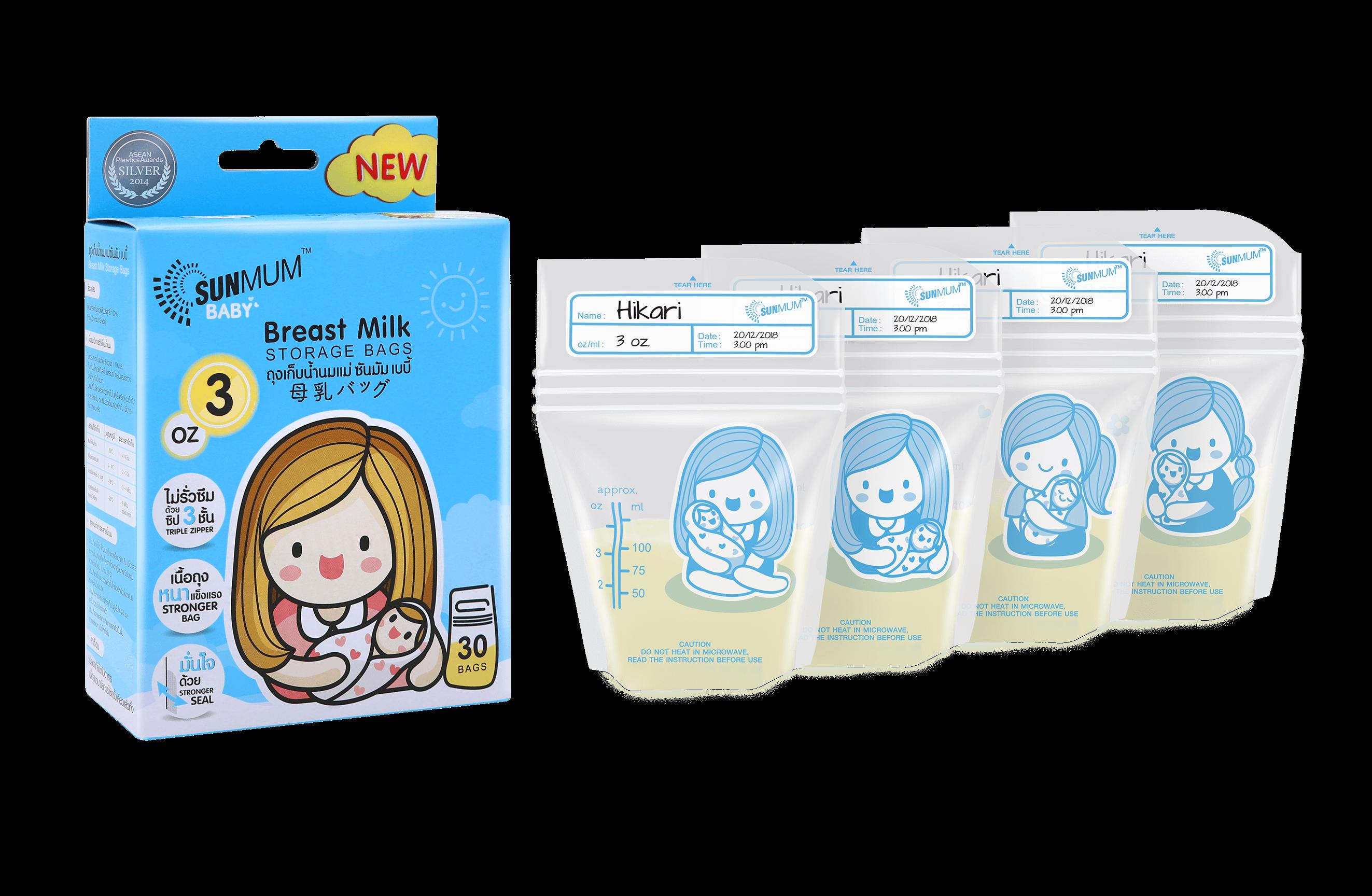 SUNMUM Breast Milk Storage Bags 3 OZ