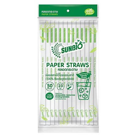 SUNBIO หลอดกระดาษห่อกระดาษ 8 มม. 50 เส้น