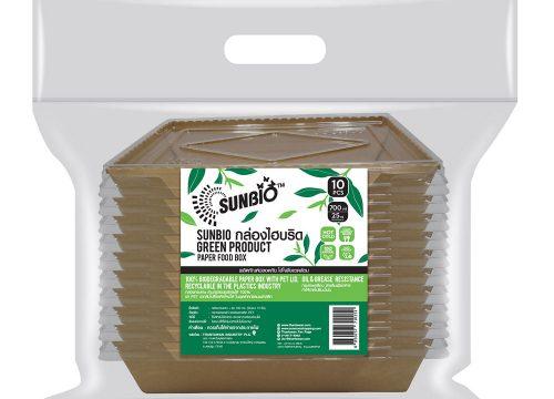 SUNBIO กล่องไฮบริด+ฝา 700 มล. (16.8 x 11.8 x 4.5 ซม.) 10 ชิ้น